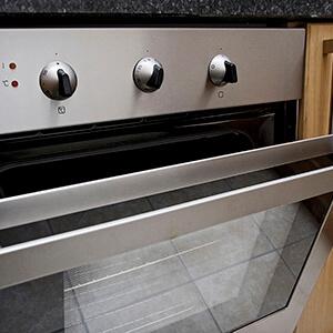 Close Up Of Open Oven Door