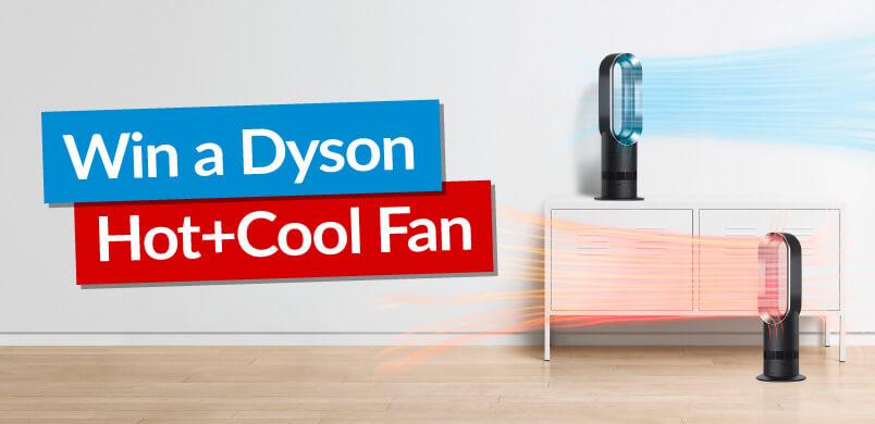 Dyson Fan With Win Banner