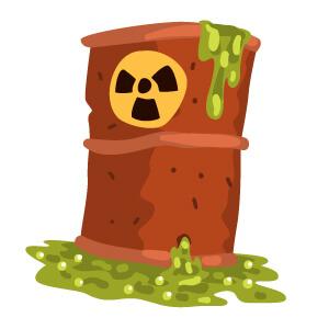 Barrel With Toxic Symbol