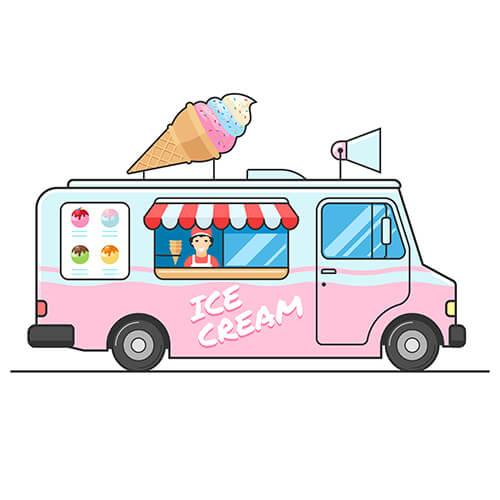 Animation Of Ice Cream Truck