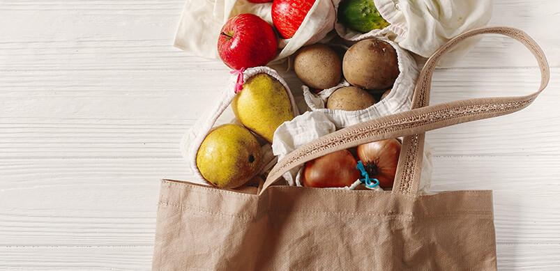 Fruit Inside Re-usable Shopping Bag