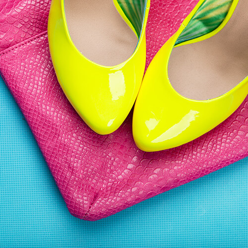 Neon Coloured Clothing In Pile