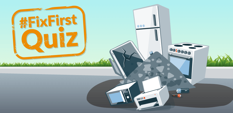 Animation of Scraped Appliances With Quiz Banner