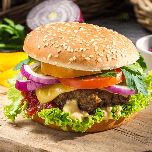 Burger Packed With Fillings