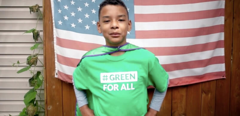 Jaden Anthony In Green For All Jumper