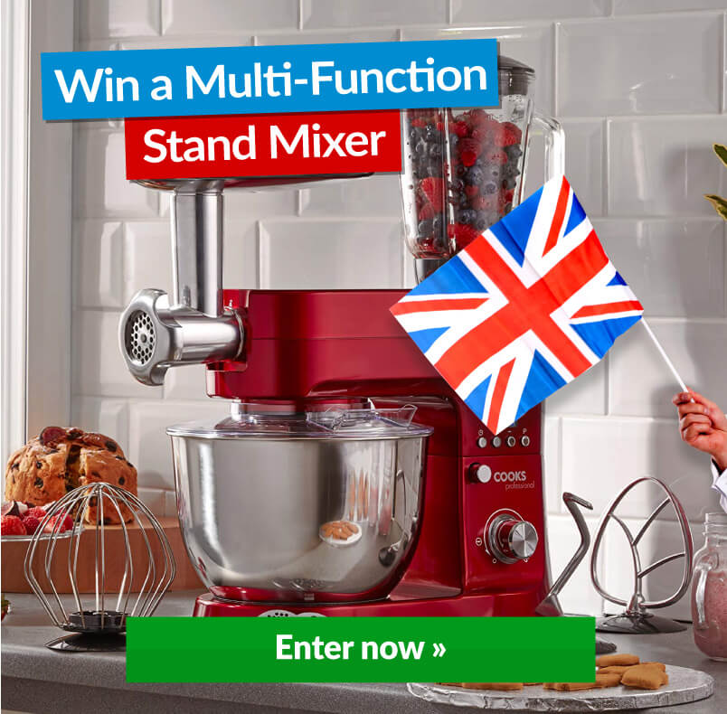 Stand Mixer With Win Banner