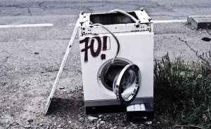 Broken washing machine