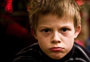 grumpy child
