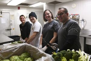 group at soup kitchen