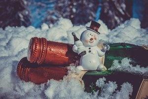 snowman on prosecco