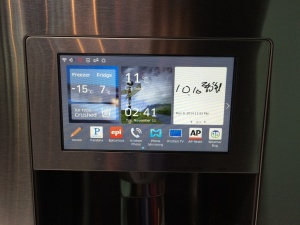Smart fridge screen