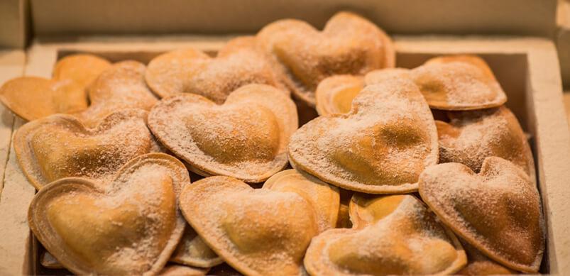 Heart Shape Ravioli Pasta