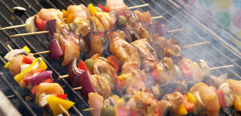 Skewers On Barbecue