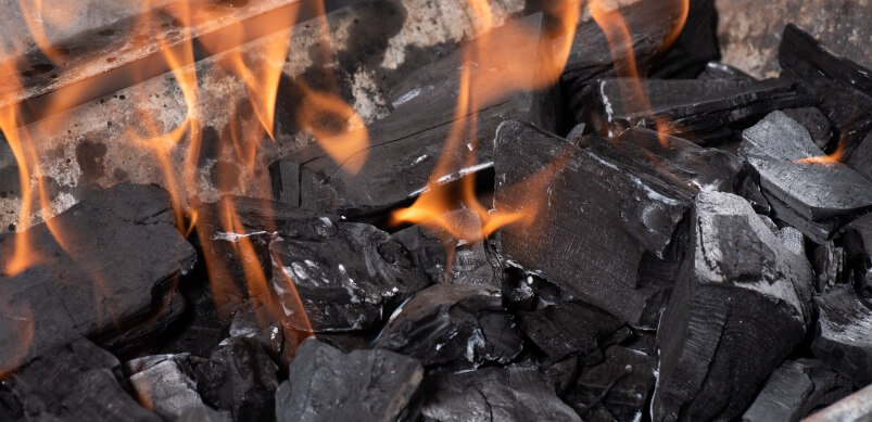 Fire On Barbecue Coal