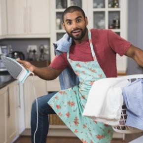 Man Juggling Appliances