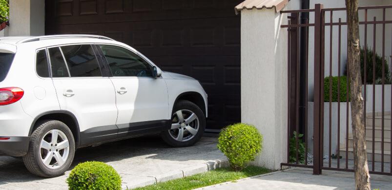 Car In Shade Of Garage