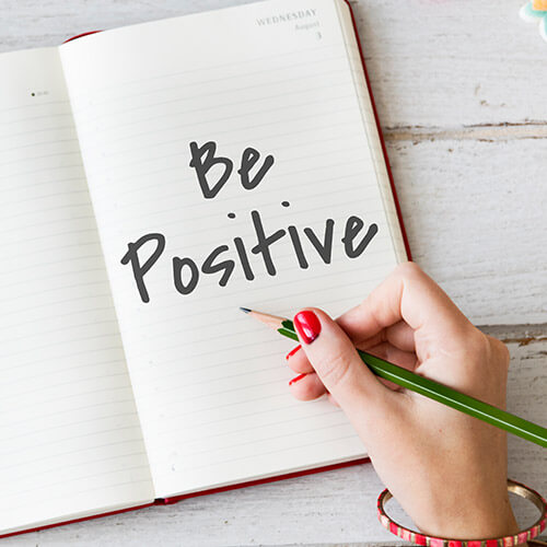 Book With Words Be Positive