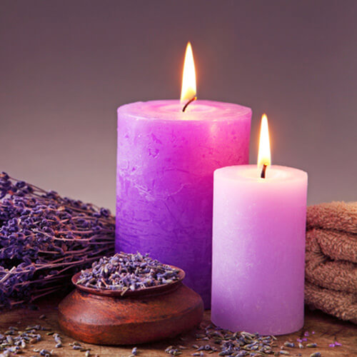 Lavender Candles In Home