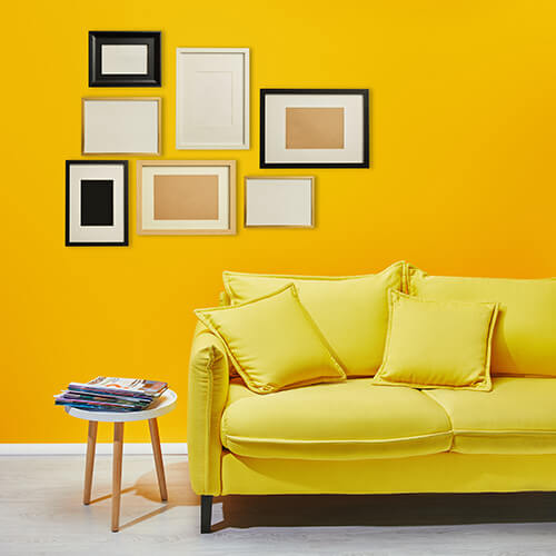 Yellow Wall In Home