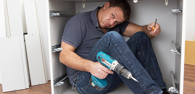 Man Inside Flatpack Furniture