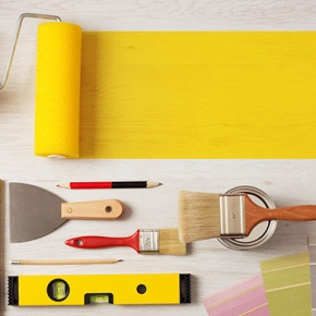 Colourful Collection Of DIY Tools