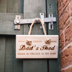 Personalised Sign Saying Dad's Shed
