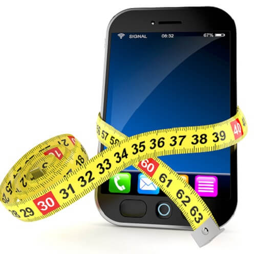 Smart Phone With Measuring Tape