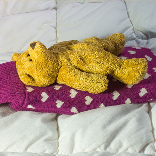 Hot Water Bottle And Teddy Bear