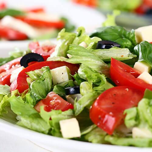 Salad Ingredients On Plate