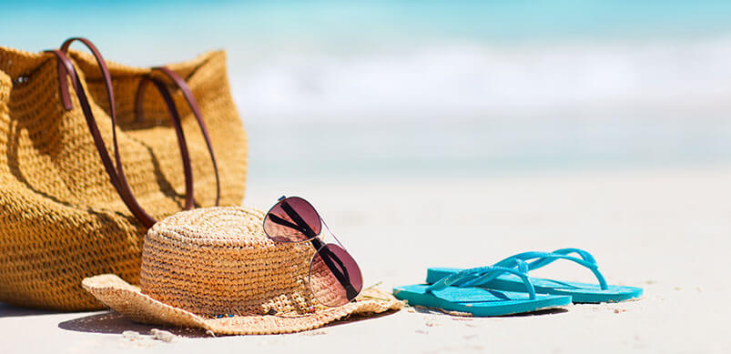 Beach With Bag And Accessories