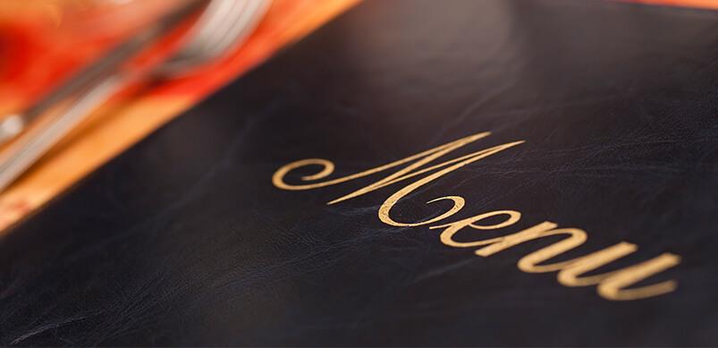 Close Up Of Restaurant Menu