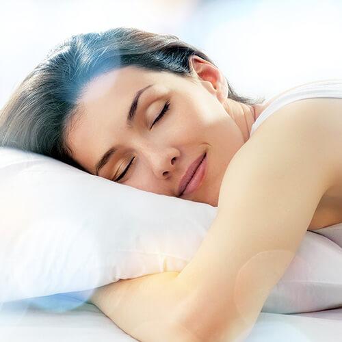 Woman Asleep On Cold Pillow