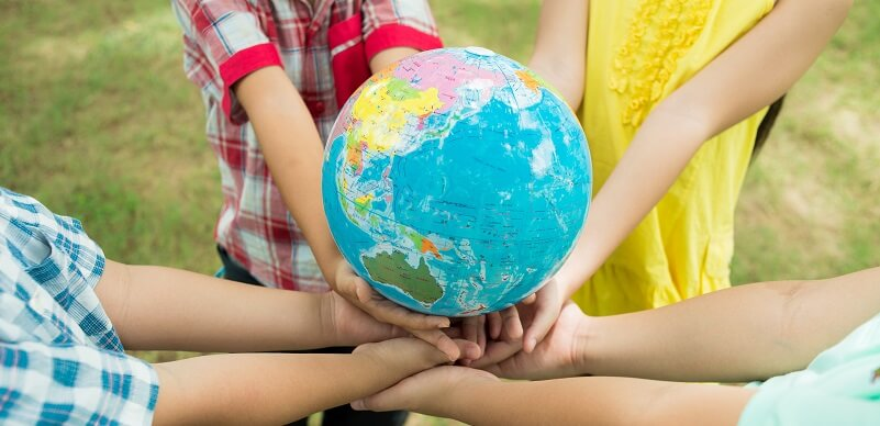 Kids Holding The World