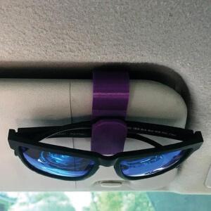 Glasses Holder On Car Visor