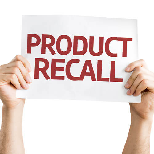 Sign Reading Product Recall