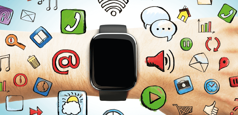 Smartwatch With Application Icons