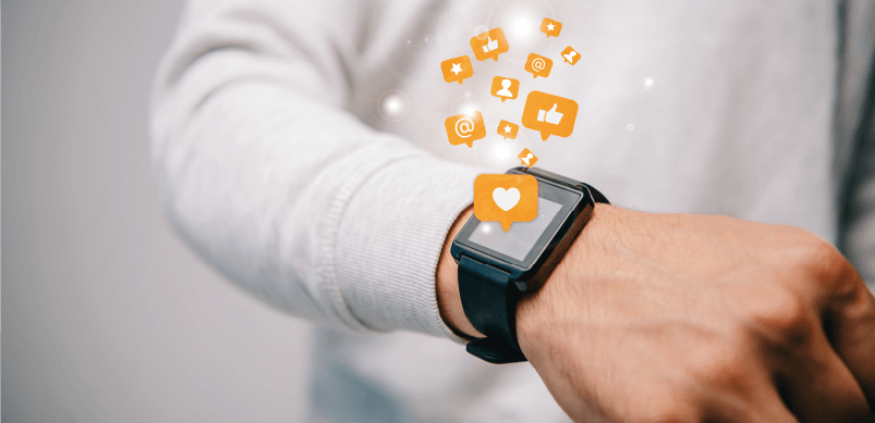 Emojis Coming Out Of Smartwatch
