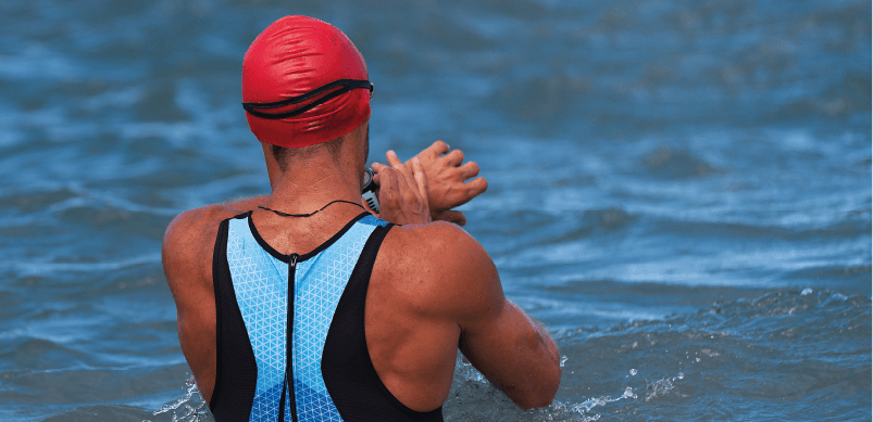 Man Swimming With Smartwatch