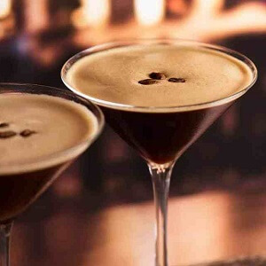 Espresso Martini With Coffee Beans On Top