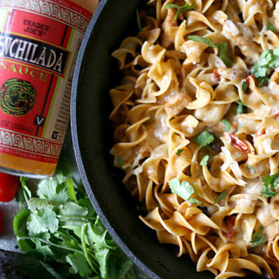 One-Pot Chicken Enchilada Pasta