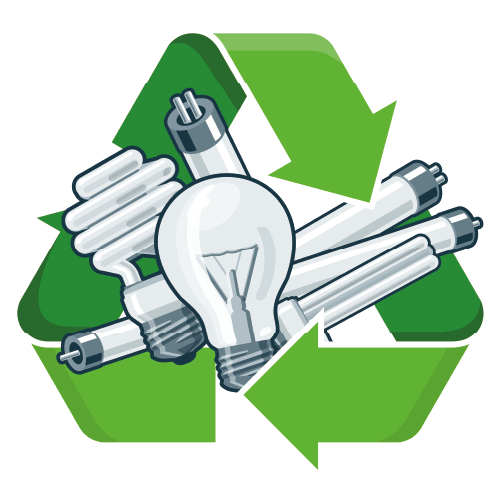 Lighting With Recycling Symbol