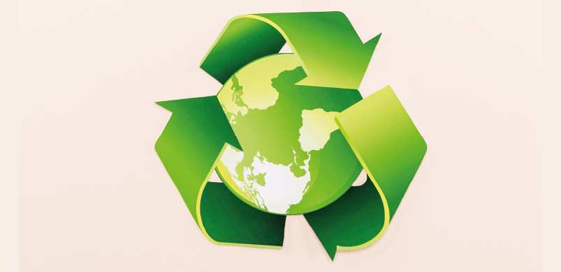 World With Recycle Symbol