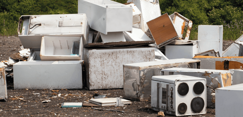 Pile Of Appliances In Landfill