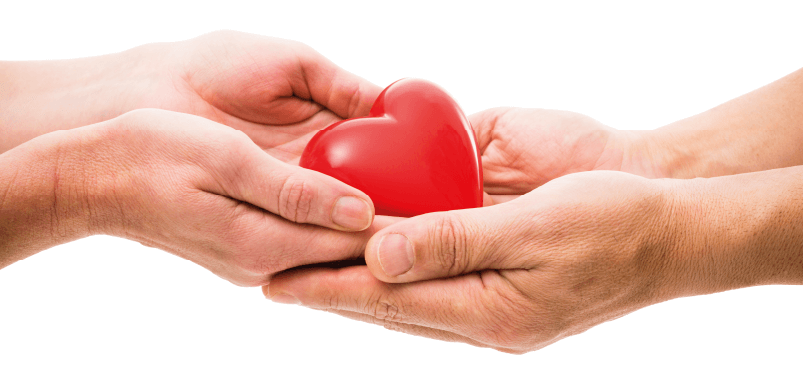 Hands Passing Heart