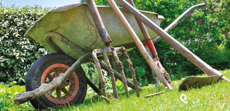 Dirty Gardening Tools Outdoors