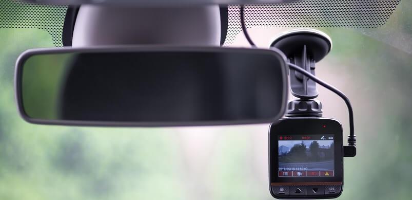 Car Dashcam On Windscreen