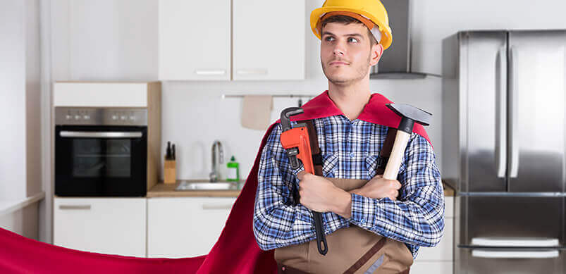 Man In Cape With DIY Tools
