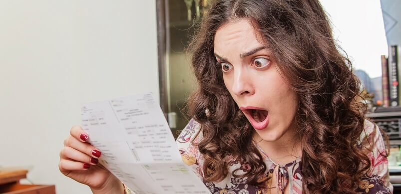 Woman Shocked At Energy Bill