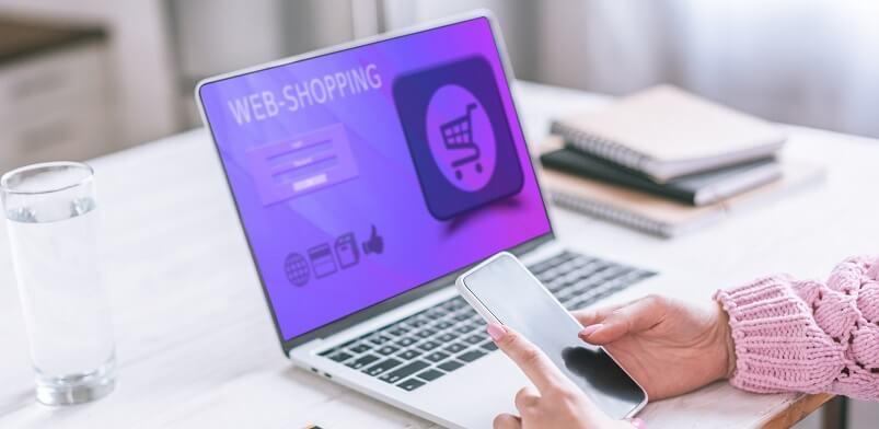 Purchasing Appliances Online On Laptop