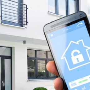 Smart Home Being Controlled With Smart Phone